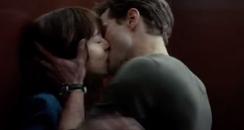 Dakota Johnson and Jamie Dornan kissing