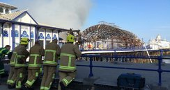 Eastbourne Pier Fire - Damage