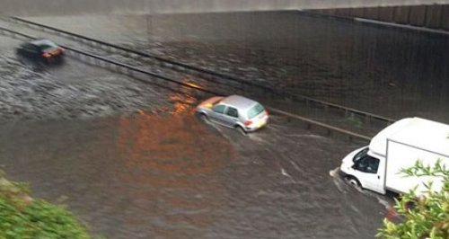 Flooding on the A40 at Hillingdon