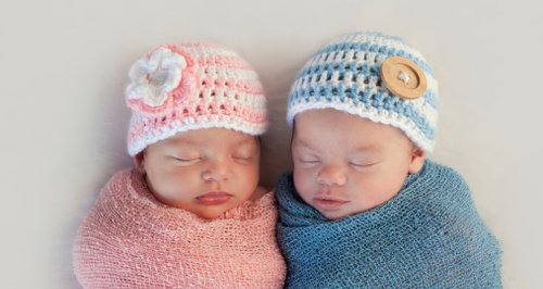 Newborn baby boy baby girl pink and blue shawls an
