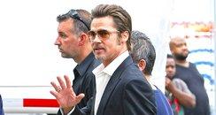 Brad Pitt On Set