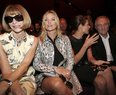 Kate Moss and Anna Wintour