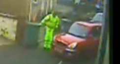 binmen video Isle of Wight police