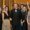 Prince Harry with dinner guests