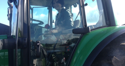 Zoe On A Tractor