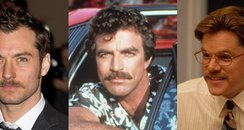 law, selleck and damon with moustache