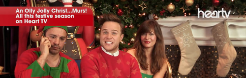 Olly Murs with JK and Lucy Heart TV Christmas 2014