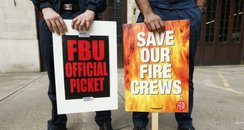 London firefighters stage 24 hour strike