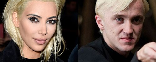 Kim Kardashian and Draco Malfoy
