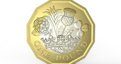 Tails side of new one pound coin design