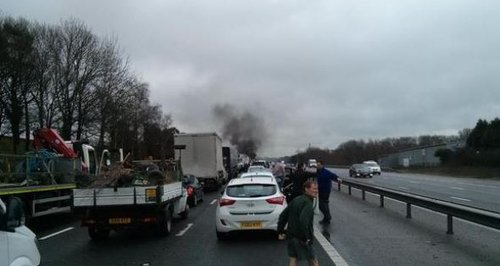 M27 Whiteley fatal crash lorry fire
