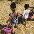 North West and friend, Ryan easter egg hunting
