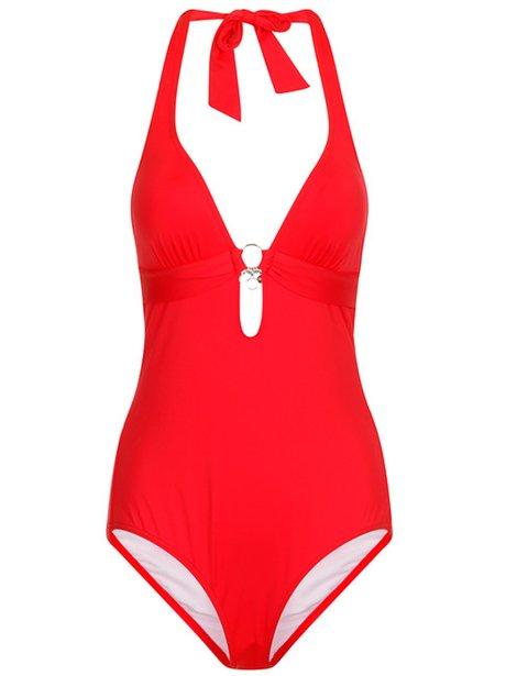 swimwear365 s oliver red halterneck swimsuit 45. Black Bedroom Furniture Sets. Home Design Ideas