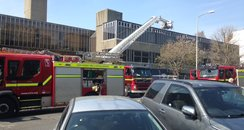 Fire Out At Hove Town Hall