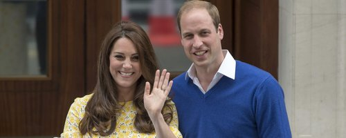 Kate Middleton, Prince William &with new baby daug