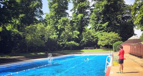 Jesus green outdoor pool heart cambridge Swimming pools in cambridge uk