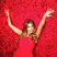 Sofia Vergara shows off her HUGE engagement ring on a bed of red roses.