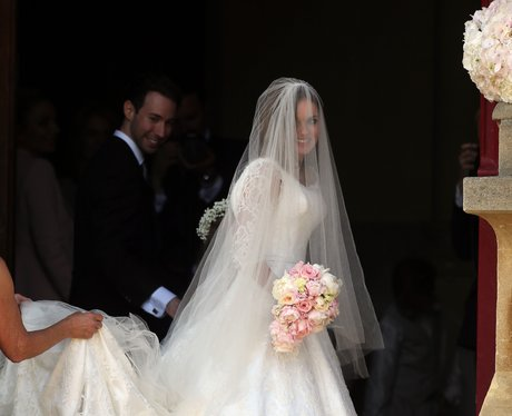 Geri Halliwell on her wedding day