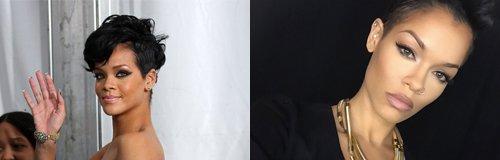 Rihanna Lookalike Canvas
