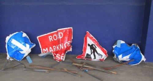 Objects placed on Devon railway line