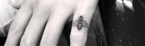 Emilia Clarke's new bee tattoo