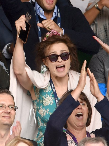 Helena Bonham Carter at Wimbledon