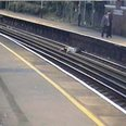 Woolston station Southampton boy on track