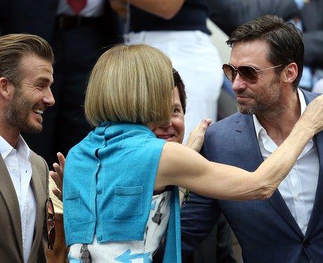 David Beckham, Anna Wintour and Hugh Jackman