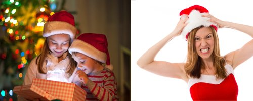 Christmas kids vs adults canvas