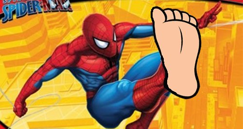Spiderman big feet