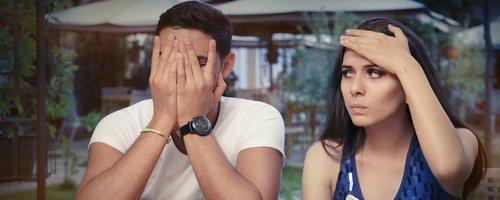 Bad date annoyed couple