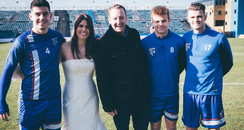 Becky getting married at Gillingham FC