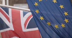 EU and GB flag