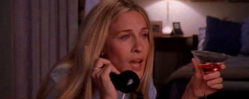 sex in the city - drunken phone dialling