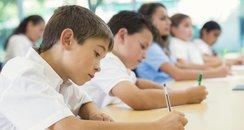 Kids doing a test
