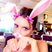 14. Victoria Beckham fools around with the bunny filter on Snapchat.