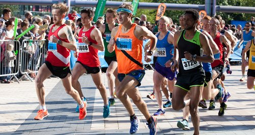 Runners at the Salford 10k