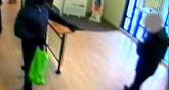 CCTV still of Fife bank robbery