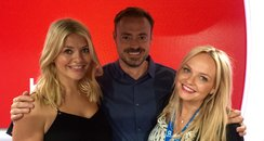 Jamie and Emma with Holly Willoughby