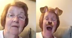 Grandma on snapchat