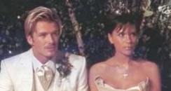 David and Victoria Beckham on their wedding day