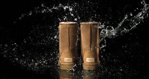 UGG boots with water on them