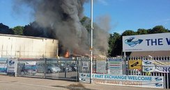 fire portsmouth hilsea