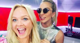 Emma Bunton and Lady Gaga singing