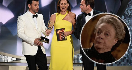 Jimmy Kimmel pokes fun at Maggie Smith during Emmy