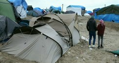 Children in the Jungle camp at Calais