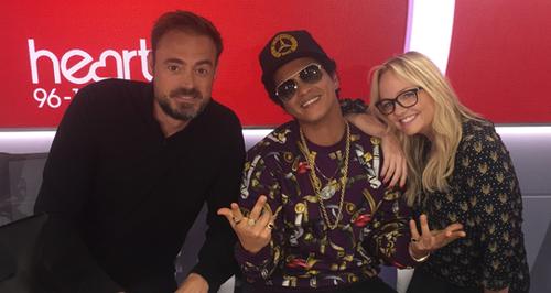 Bruno Mars With Jamie And Emma