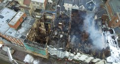 Royal Clarence hotel fire drone footage