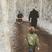 5. Emma Bunton takes her sons on a Christmas walk.
