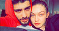 Zayn Malik and Gigi Hadid couple shot no makeup